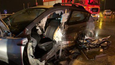 صورة اصابتات بحادث طرق على مفترق باقة الغربية