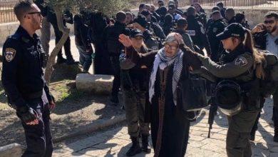 Photo of الشرطة تعتقل خمس فلسطينيات من مصلى باب الرحمة بالمسجد الأقصى