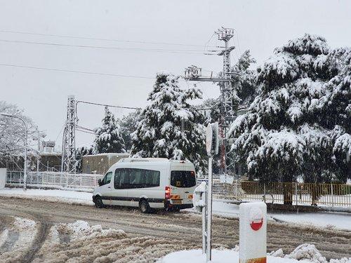 Photo of منظر رائع: تساقط الثلوج في بقعاثا الجولان