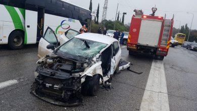 Photo of حادث طرق بين حافلة وسيارة خصوصية في كتسرين
