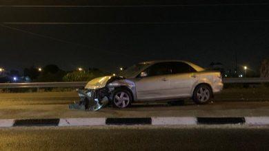 Photo of اصابة طفيفة بحادث طرق بالقرب من الجسر في الطيبة