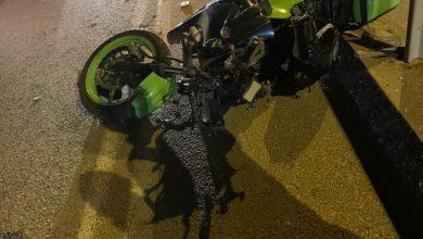 Photo of إصابة متوسطة بحادث دراجة ناريه في قلنسوة