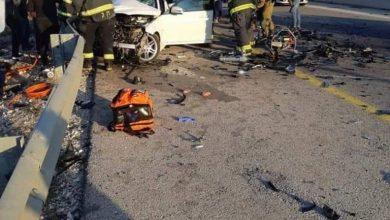 Photo of وقوع حادث طرق بين عدة سيارات في شارع 5