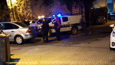 صورة محاولة احراق مركبة في مدينة الطيبة