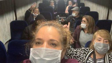 Photo of الإسرائيليون من سفينة كورونا في طريقهم للمطار للعودة للبلاد