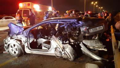 Photo of اصابة حرجة جراء حادث طرق بين عدة سيارات بالقرب من برقان
