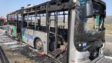 Photo of اخماد حريق بحافلة ركّاب عند مفرق بيت ريمون قرب كفركنا