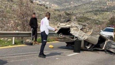 Photo of اصابة خطيرة لشاب من عرب اسرائيل بحادث طرق قرب عناب