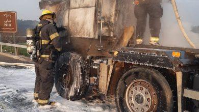 Photo of اخماد حريق في شاحنة بالقرب من عين توت