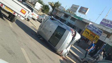 Photo of اصابة متوسطة بانقلاب سيارة في الطيرة