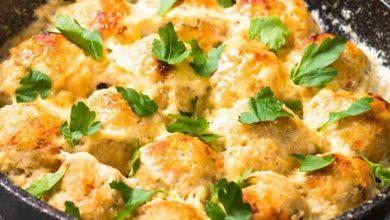 Photo of كرات الدجاج بالكريمة والجبن
