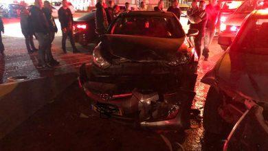 Photo of اصابتان بحادث طرق على مدخل المنطقة الصناعية بالطيبة
