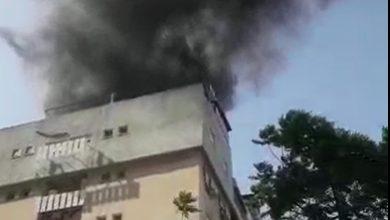 Photo of اندلاع حريق كبير في مبنى سكني في الخضيرة