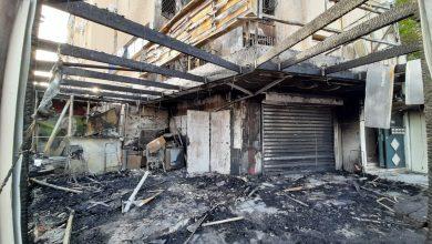 Photo of اندلاع حريق كبير في كيوسك بمحاذاة عماره سكنيه في بئر السبع