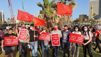 Photo of كوادر الحزب والشبيبة الشيوعية من الطيبة تشارك بالمظاهرة ضد العنف وقتل النساء