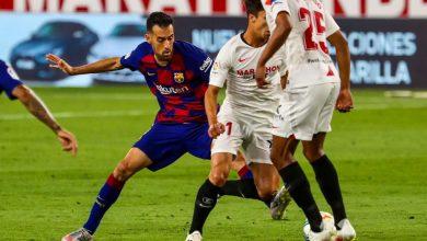 "Photo of برشلونة يسقط في فخ إشبيلية وركلات ميسي ""لا تفيد"""