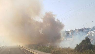 Photo of اندلاع حريق كبير في مدينة الطيبة ودخان كثيف في المكان