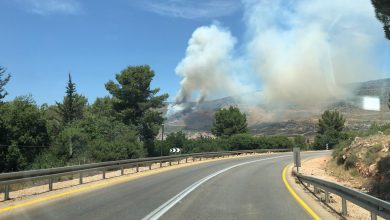 Photo of اندلاع حريق كبير بمنطقة أشواك في بلدة نحف