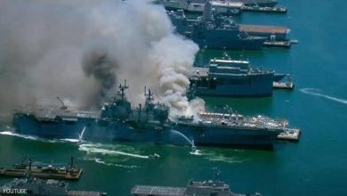 "Photo of كارثة سفينة حربية أميركية…انفجار وحريق ""لا ينطفئ"""