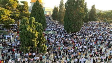 Photo of ألاف المصلون في صلاة عيد الأضحى بالمسجد الأقصى المبارك