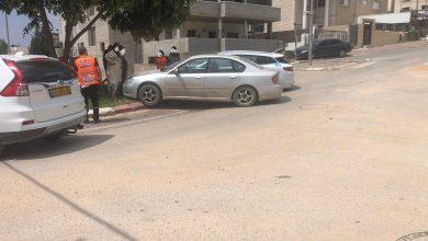 Photo of اصابة بحادث طرق بالقرب من منطقة الكينا في الطيبة