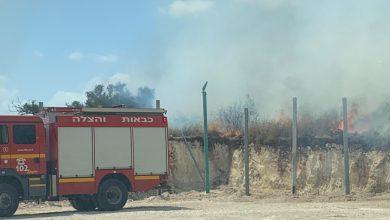 Photo of اندلاع حريق في المنطقة الجنوبية من مدينة الطيبة