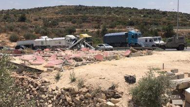 Photo of هدم اسوار وساحات في عزبة شوفة بالقرب من الطيبة | فيديو