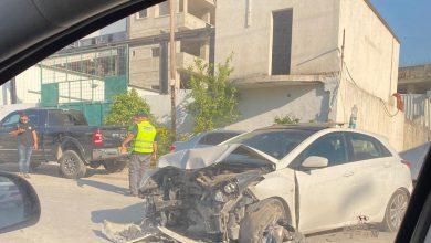 Photo of اصابتان طفيفتان بحادث طرق في المنطقة الصناعية بالطيبة