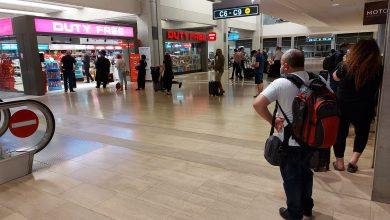صورة فوضى في مطار بن غوريون….توقف عن فحص تاريخ شراء التذكرة