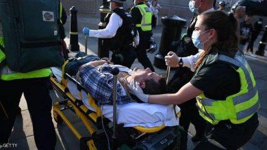 """صورة اشتباكات في لندن جراء """"كورونا"""".. وحالات الإصابة في ارتفاع"""