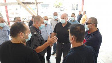صورة بلدية الطيبة: أعمال البناء في محطة اطفاء الطيبة تصل مراحلها الأخيرة