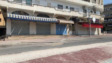 صورة شوارع مدينة الطيبة بعد دخول قرار الاغلاق لحيز التنفيذ