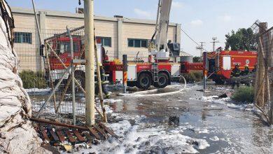 صورة اوفاكيم: إندلاع حريق بمصنع ورق بالمنطقة الصناعية