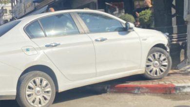صورة اصابة بحادث طرق بالقرب مخبز ابو صالح بالطيبة