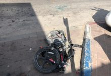 صورة قلنسوة : اصابة متوسطة لسائق دراجة بحادث دهس