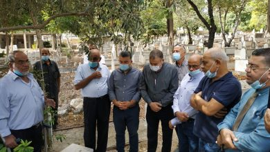 صورة جت المثلث: زيارة لضريح الشهيد رامي غرة في ذكرى شهداء هبة القدس والأقصى الـ20